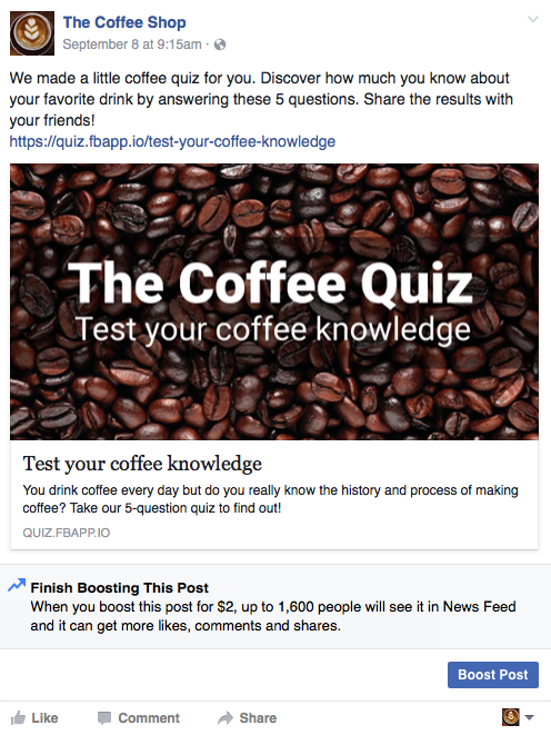 coffee posts for facebook